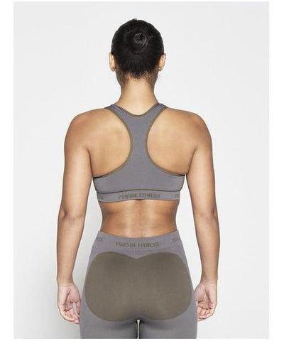 Pursue Fitness Seamless Sports Bra Khaki-Pursue Fitness-Gym Wear