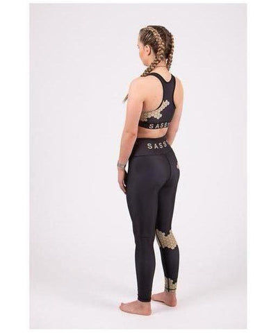 Totally Sassy Honeycomb Leggings-Totally Sassy-Gym Wear