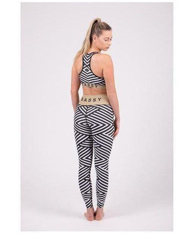 Totally Sassy Zebra Sports Bra-Totally Sassy-Gym Wear