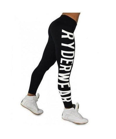 RyderWear Womens Boss Girl Leggings Black-RyderWear-Gym Wear