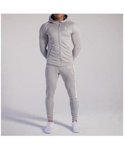 GymJam Fine Fit Hoodie Silver-GymJam-Gym Wear