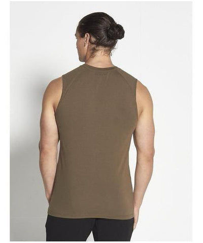 Pursue Icon Sleeveless T-Shirt Khaki-Pursue Fitness-Gym Wear