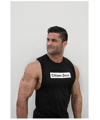 Citizen Zeus Box Logo Sleeveless T-Shirt Black-Citizen Zeus-Gym Wear