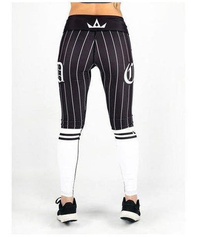 Combat Dollies Baseball Fitness Leggings White/Black