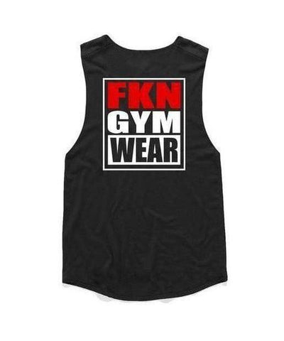 Womens FKN Gangsta Sleeveless T-Shirt Black-FKN Gym Wear-Gym Wear