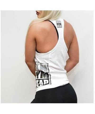 Womens FKN Takeover Tback Vest White-FKN Gym Wear-Gym Wear