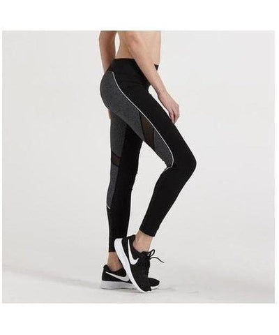 GymWear Sport Leggings Black/Grey-GymWear-Gym Wear