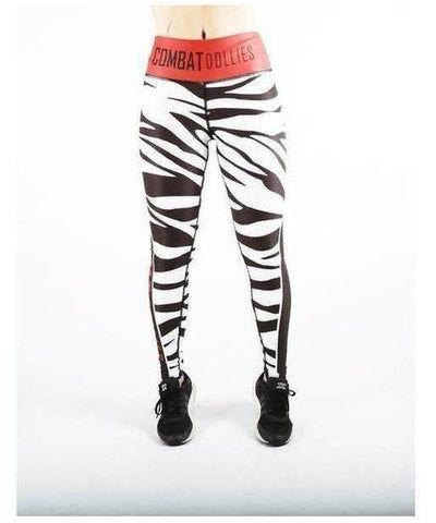Combat Dollies Zebra Fitness Leggings-Combat Dollies-Gym Wear