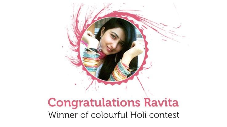 Winner of Colourful Holi Contest