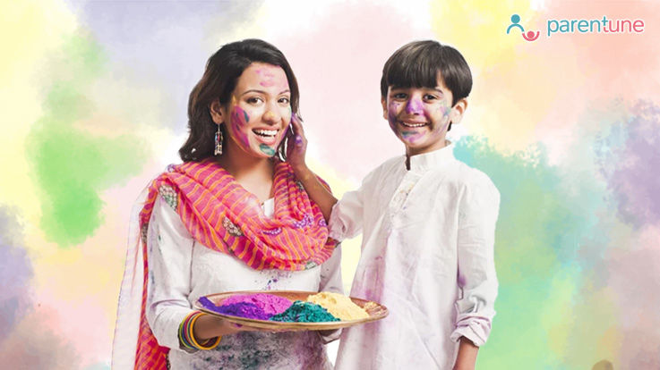 Have a safe Holi with your child