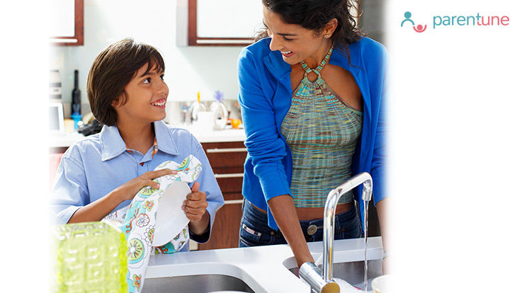 How To Make Your Child Help You In Daily Chores At Home