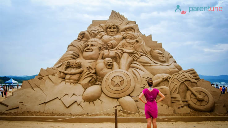 This weekend treat your child with wonders of Sand Art