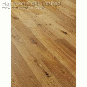 Oak Wide Rustic Brushed & Matt Lacquered (HHA111) Flooring