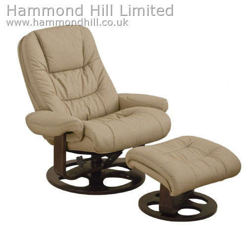 Relaxateeze Grappa swivel recliner & foostool