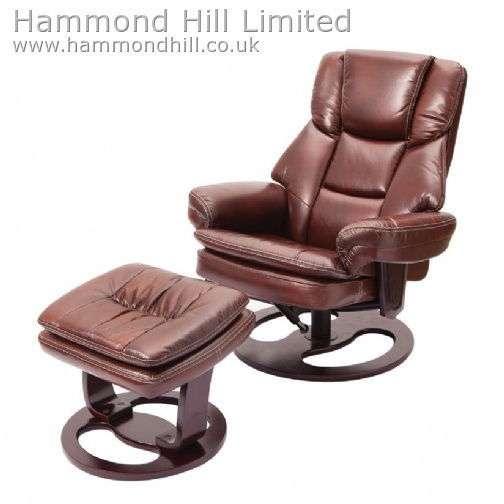 Relaxateeze Sambuca swivel recliner & footstool