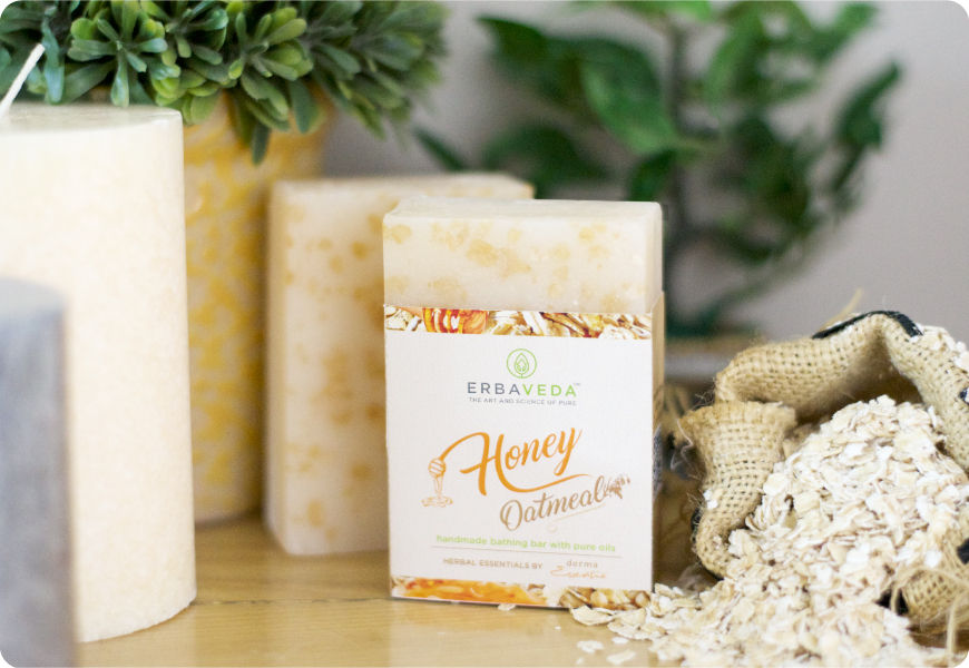 honey oatmeal soap silde