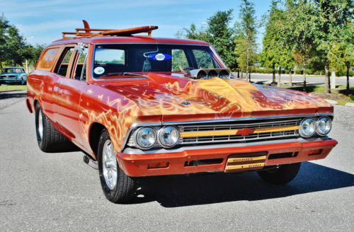1966 Chevrolet Chevelle 1 of and kind Super Charged and runs sweet.