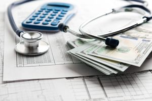 Healthcare marketing budget stethoscope money