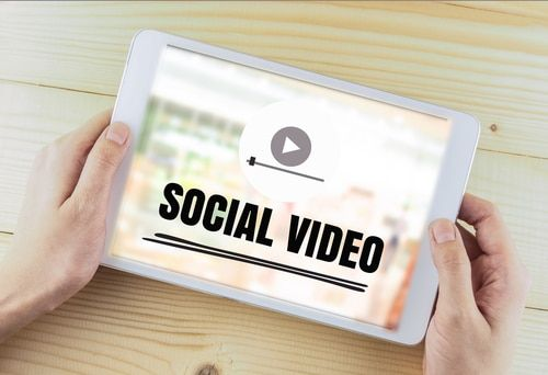 healthcare marketing social video on iPad device
