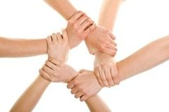 join hands teamwork