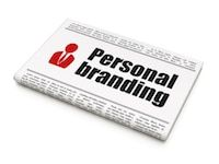 personal branding advertisement on newspaper