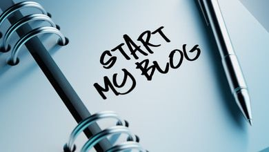 """start my blog"" written on notepad"