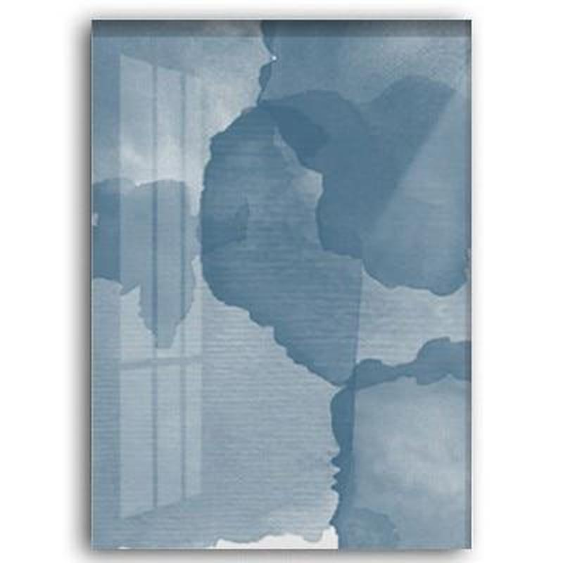 Abstract Blue Watercolor Canvas Painting Prints-Heart N' Soul Home-50x70 cm no frame-A-Heart N' Soul Home