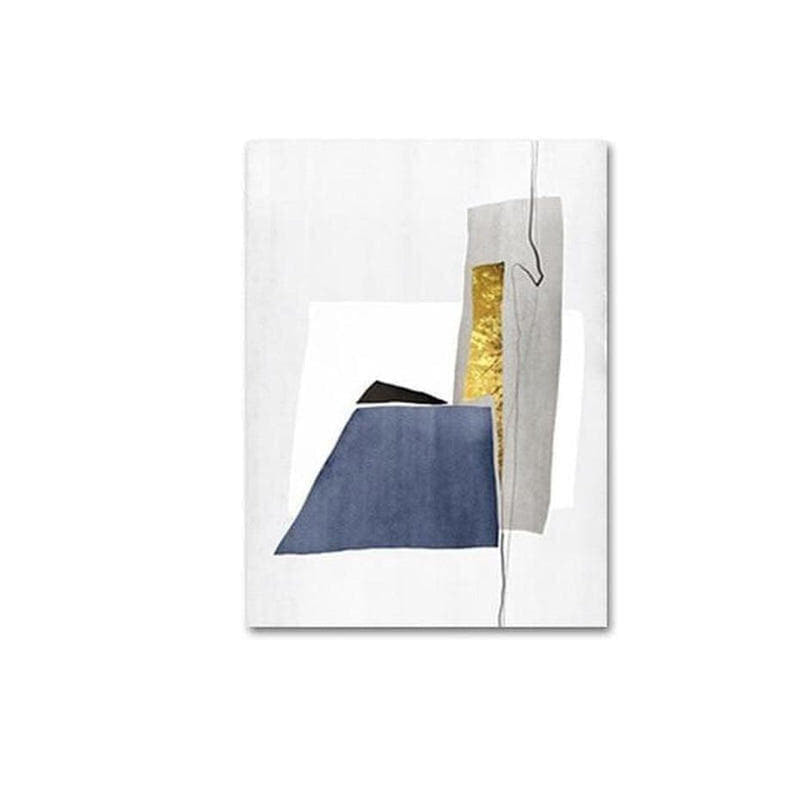 Aiden Blue And Gold Abstract Art Canvas Painting Prints-Heart N' Soul Home-10x15cm no frame-C-Heart N' Soul Home