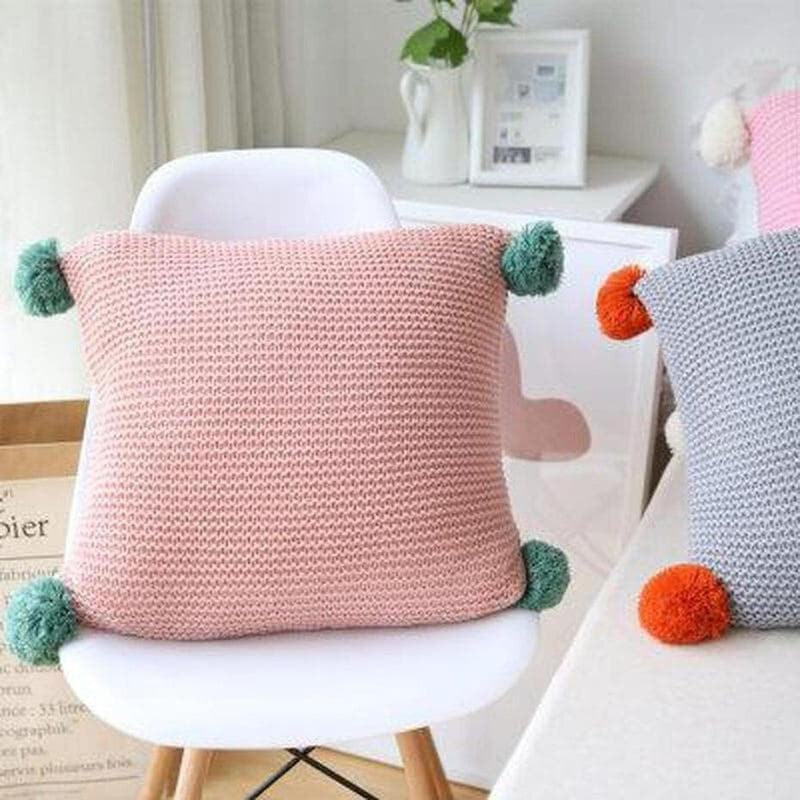 Alexis Knitted Cushion Cover-Heart N' Soul Home-45x45CM NO FILLING-A-Heart N' Soul Home