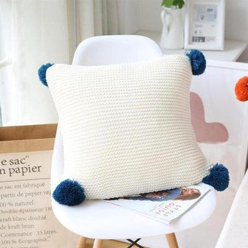 Alexis Knitted Cushion Cover-Heart N' Soul Home-45x45CM NO FILLING-E-Heart N' Soul Home