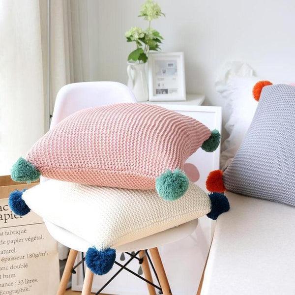 Alexis Knitted Cushion Cover-Heart N' Soul Home-Heart N' Soul Home