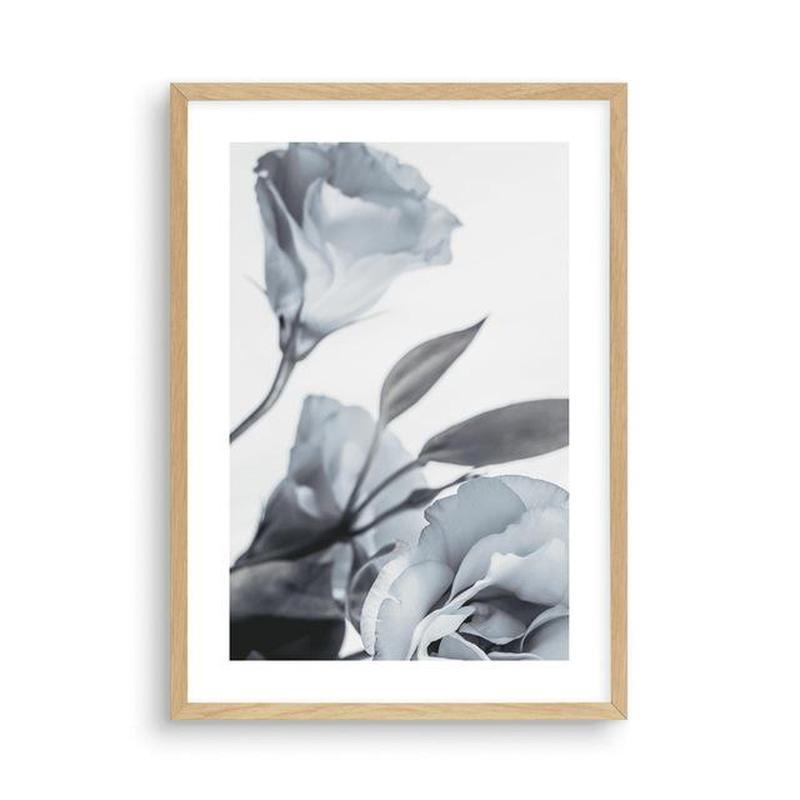 Blue Lisianthus Flower Canvas Print-Heart N' Soul Home-30x40cm No frame-Blue Lisianthus Flower Canvas Print (A)-Heart N' Soul Home