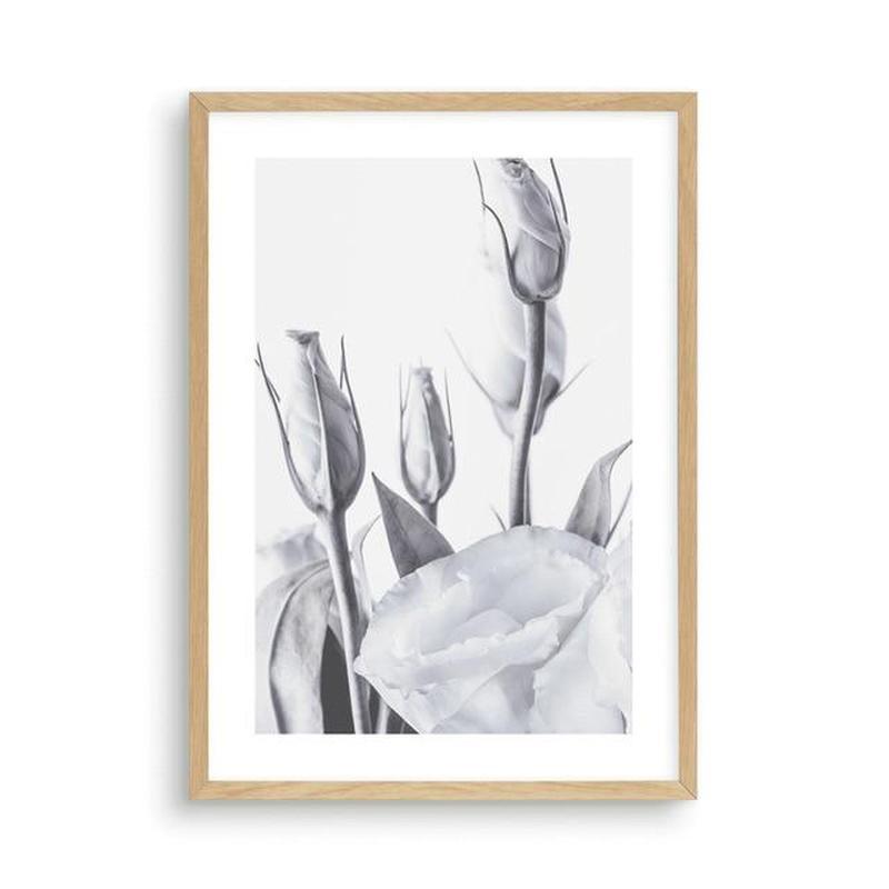 Blue Lisianthus Flower Canvas Print-Heart N' Soul Home-30x40cm No frame-Blue Lisianthus Flower Canvas Print (B)-Heart N' Soul Home