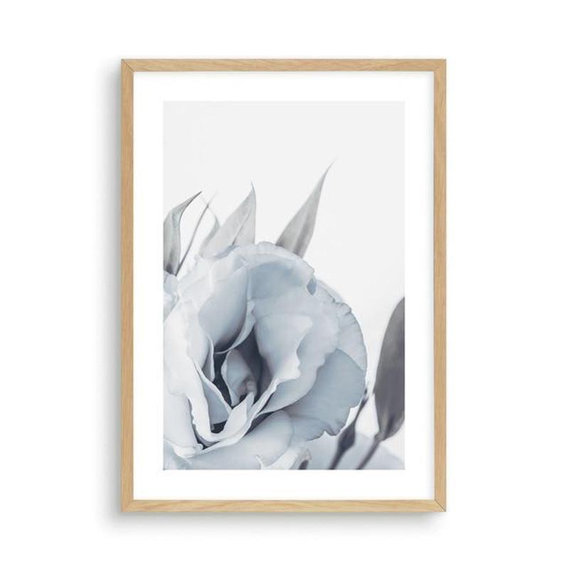 Blue Lisianthus Flower Canvas Print-Heart N' Soul Home-30x40cm No frame-Blue Lisianthus Flower Canvas Print (C)-Heart N' Soul Home