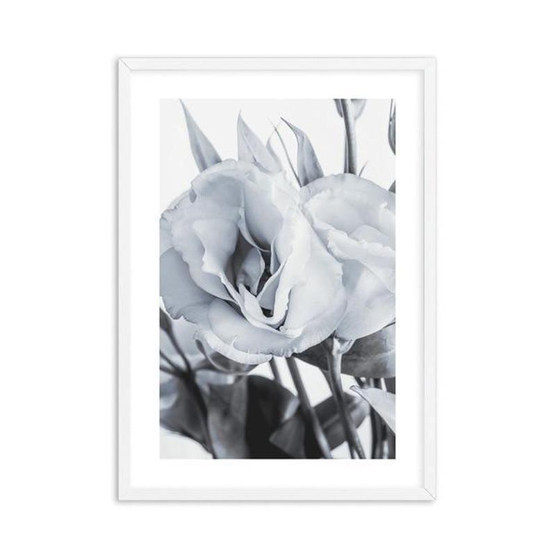 Blue Lisianthus Flower Canvas Print-Heart N' Soul Home-30x40cm No frame-Blue Lisianthus Flower Canvas Print (D)-Heart N' Soul Home
