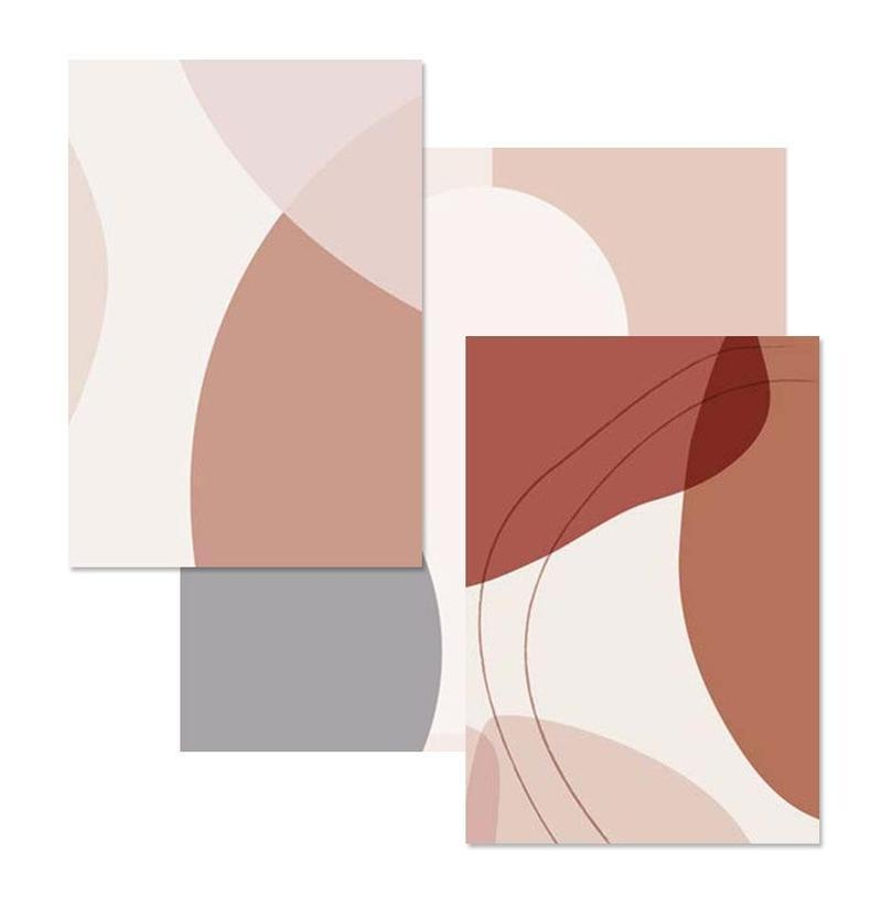 Blush Pink Geometric Abstract Canvas Prints-Heart N' Soul Home-Heart N' Soul Home