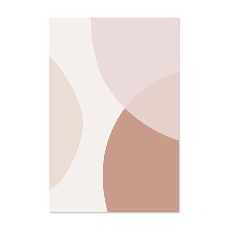 Blush Pink Geometric Abstract Canvas Prints-Heart N' Soul Home-50x70cm no frame-Picture B-Heart N' Soul Home