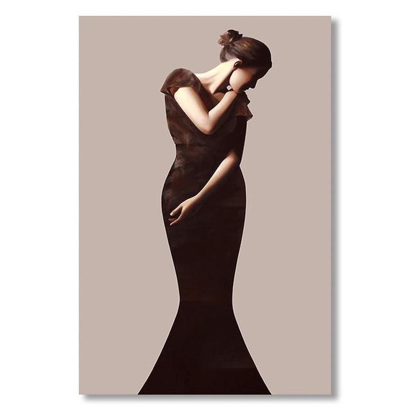Classic Lady Series Design D Canvas Print-Heart N' Soul Home-60x90cn no frame-Heart N' Soul Home