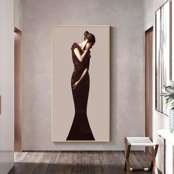 Classic Lady Series Design D Canvas Print-Heart N' Soul Home-Heart N' Soul Home