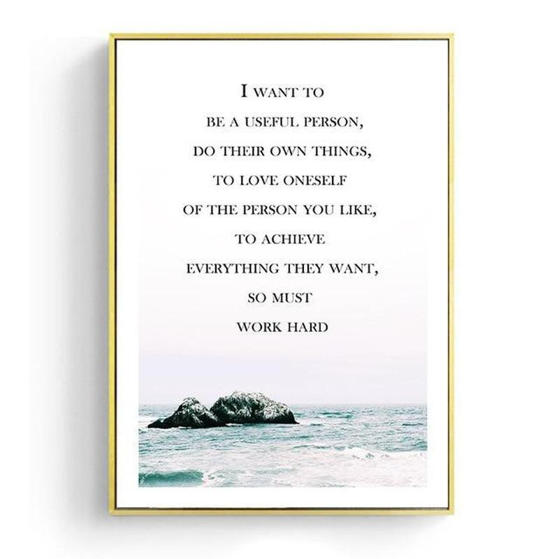 Coconut Palm Tree, Life Quotes And Ocean Canvas Prints-Heart N' Soul Home-30x40cm No frame-A-Heart N' Soul Home