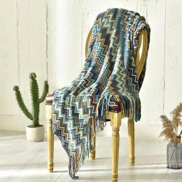 Colorful Bohemian Knitted Throw-Heart N' Soul Home-Heart N' Soul Home