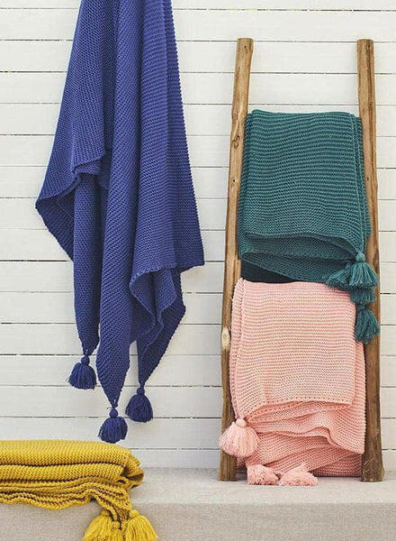 Colorful Remy Knitted Tassel Throw-Heart N' Soul Home-Heart N' Soul Home