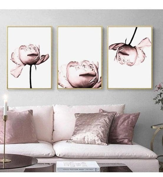 Dusty Pink Roses Canvas Prints-Heart N' Soul Home-Heart N' Soul Home