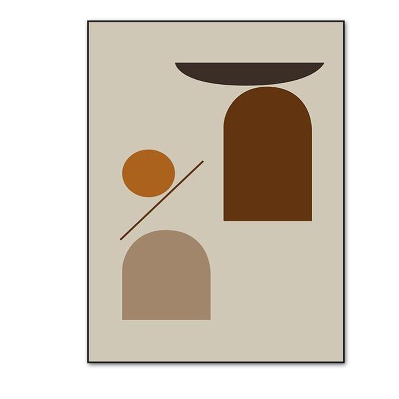Earthy Color Abstract Geometric Canvas Prints-Heart N' Soul Home-10x15 cm no frame-B-Heart N' Soul Home