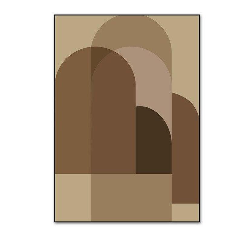Earthy Color Abstract Geometric Canvas Prints-Heart N' Soul Home-10x15 cm no frame-C-Heart N' Soul Home