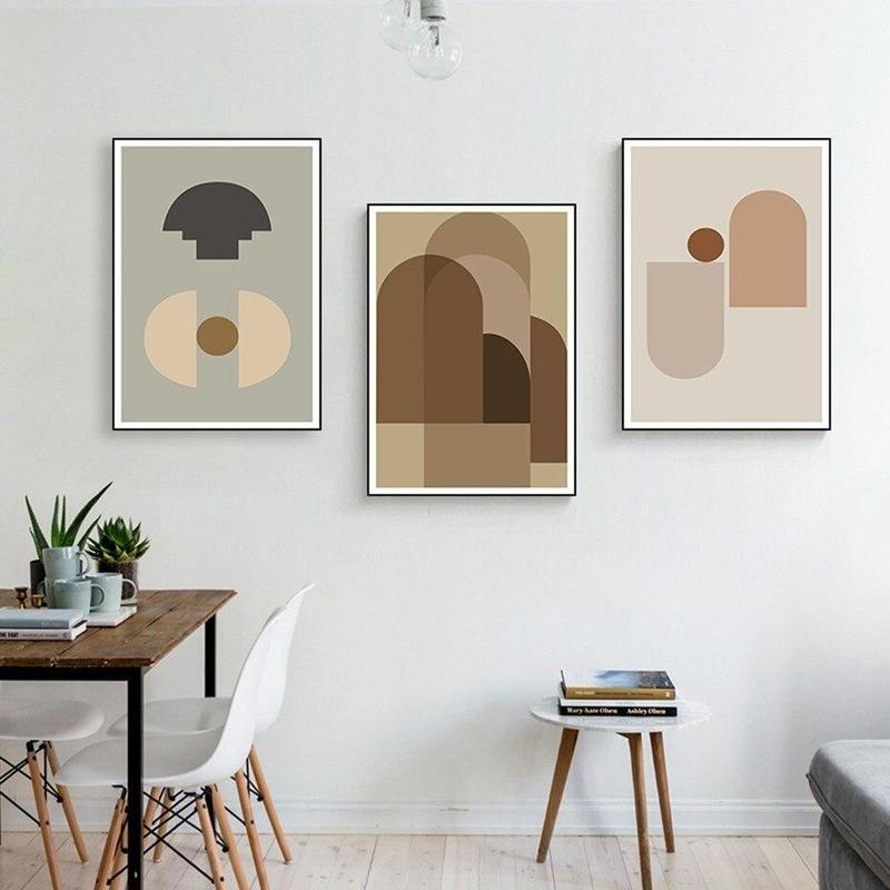 Earthy Color Abstract Geometric Canvas Prints-Heart N' Soul Home-Heart N' Soul Home