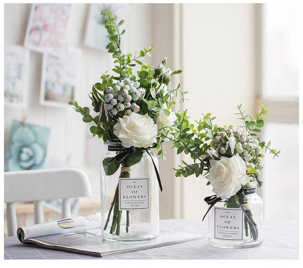 Elegant Flower Bouquet Vase Set-HeartnSoulHome-Heart N' Soul Home