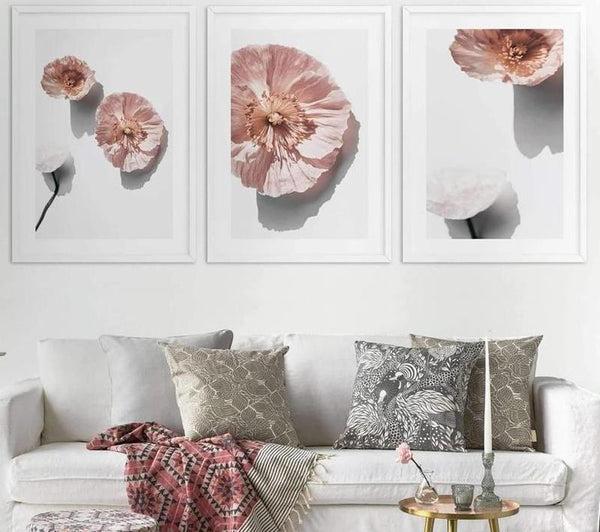 Elegant Pink Flower Canvas Painting Prints-Heart N' Soul Home-Heart N' Soul Home