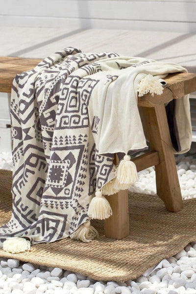 Eva Cotton Tassel Throw-Heart N' Soul Home-Twilight-130x180cm-Heart N' Soul Home