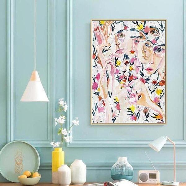 Floral Audrey Canvas Painting Prints-Heart N' Soul Home-Heart N' Soul Home